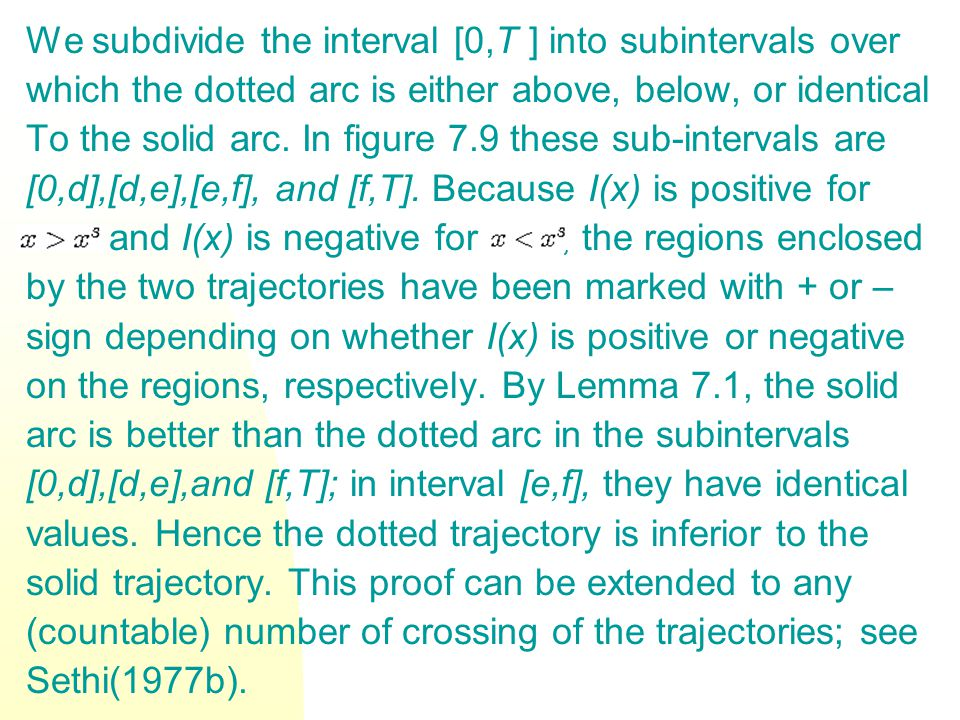 We subdivide the interval [0,T ] into subintervals over